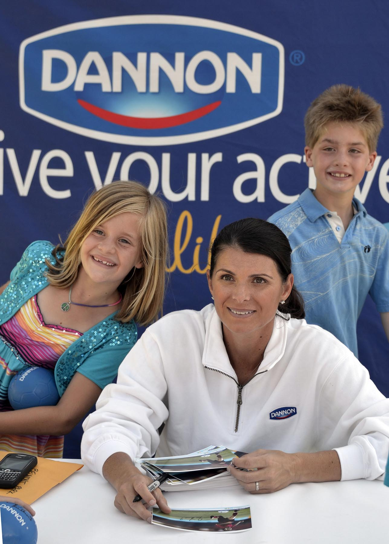 Dannon Live Your Active Culture event with Mia Hamm